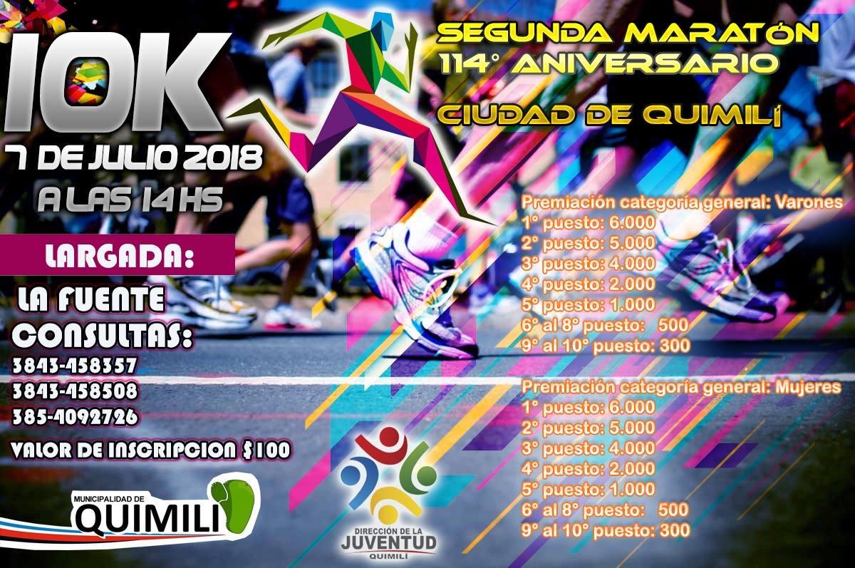2da. 10k 114º Aniversario Ciudad De Quimili